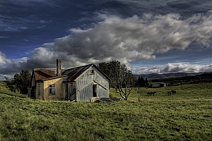 Abandoned farmhouse in south Iceland